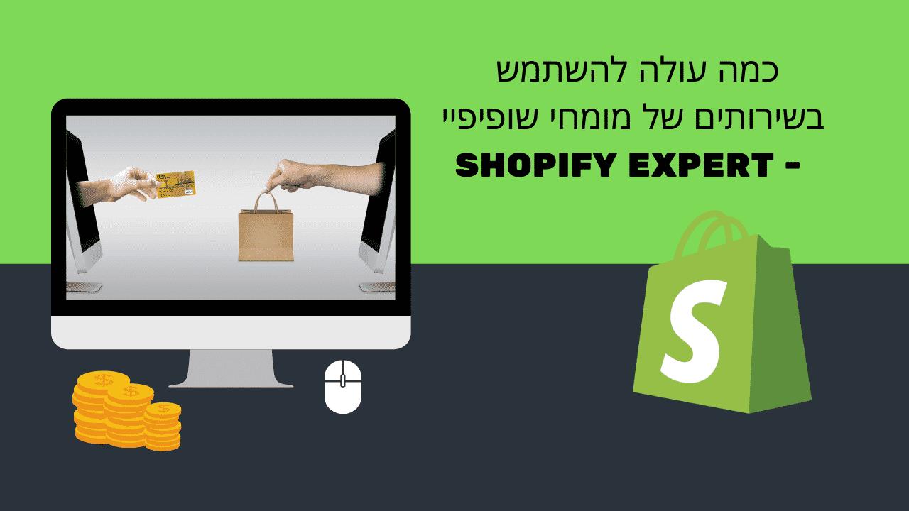 כמה עולה להשתמש בשירותים של מומחי שופיפיי - SHOPIFY EXPERT