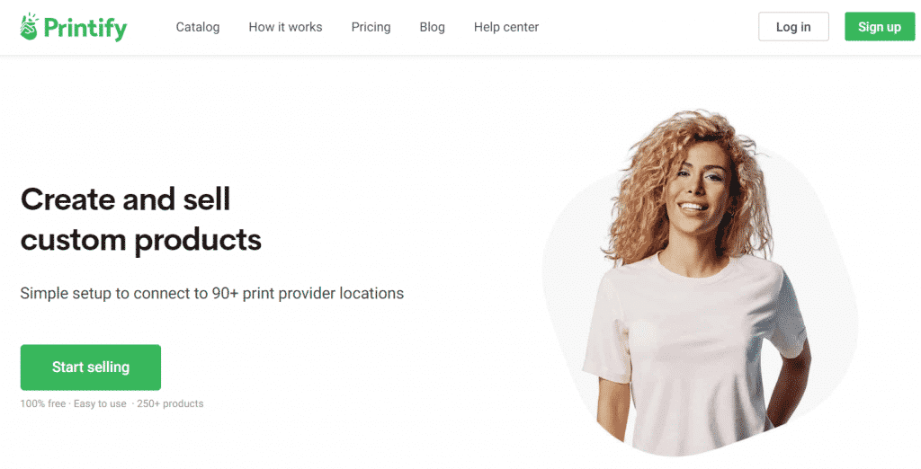 כמו Printful, הטוב ביותר לעסקים עם דרישה לפי דרישה המתמחים בבגדים בהתאמה אישית, אביזרים וכלי בית.